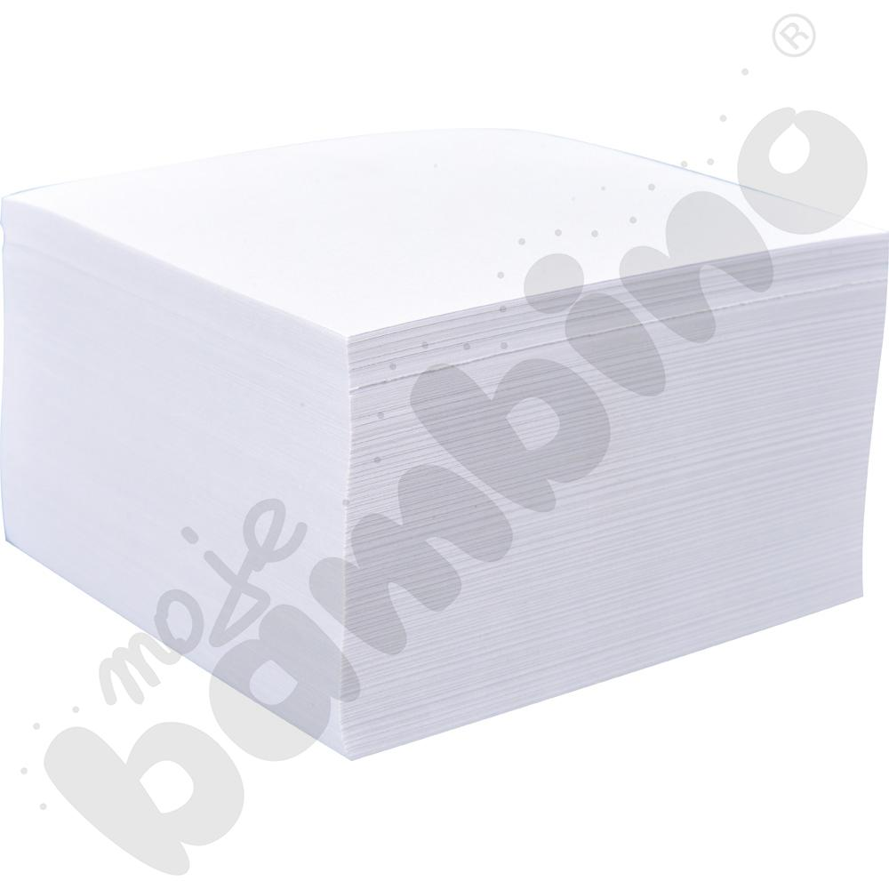 Kostka klejona biała