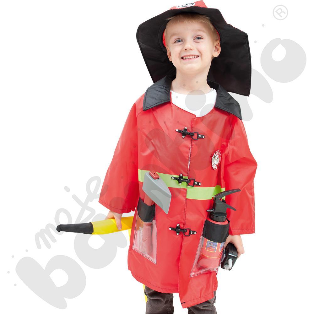 Strażak - kostium z akcesoriami