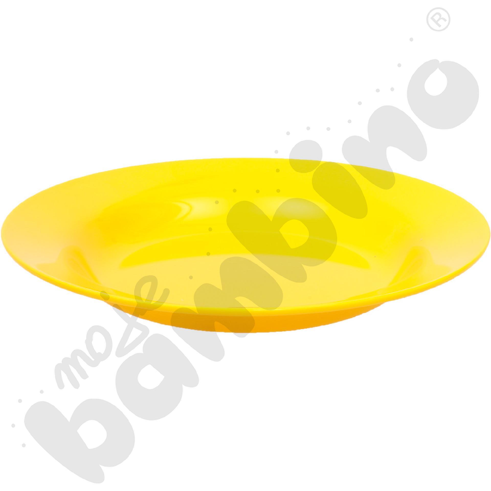Głęboki talerz - żółty