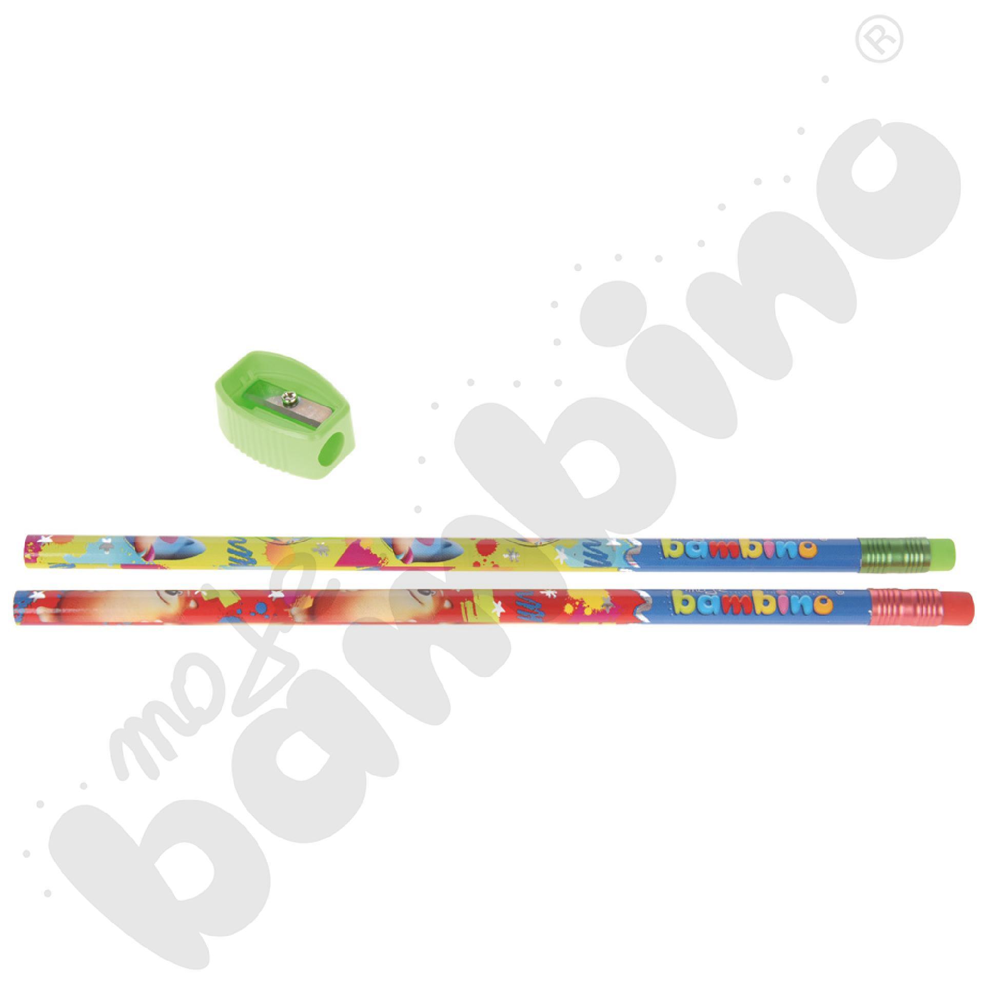 2 ołówki z temperówką