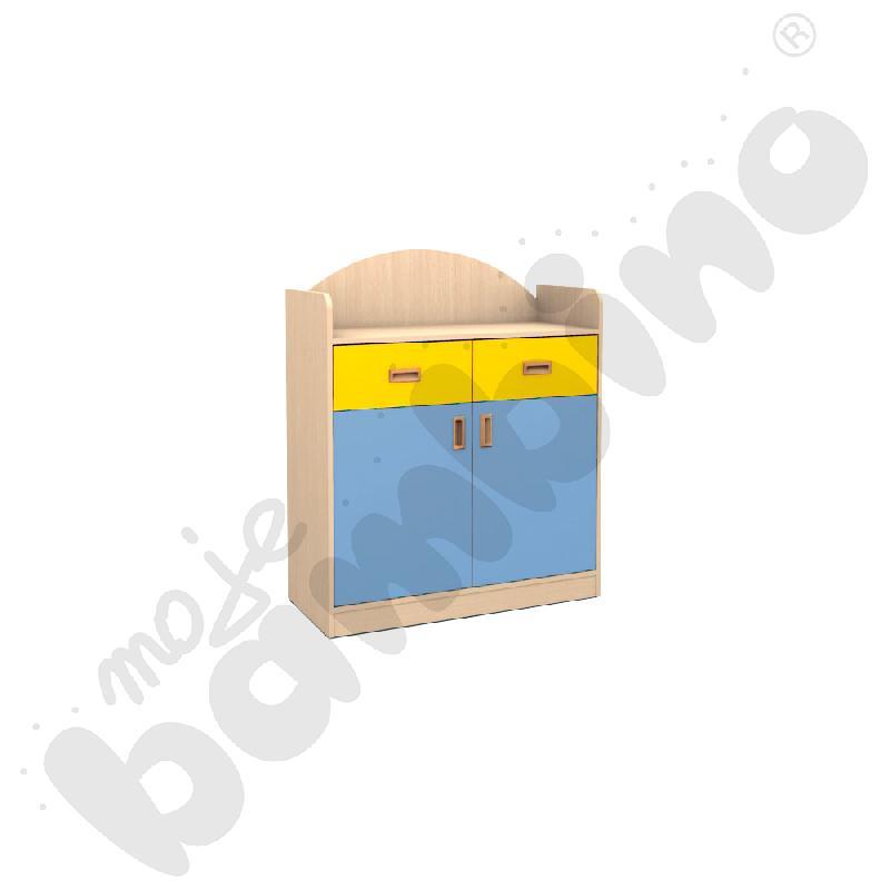 SANLANDIA PLUS szafka dwudrzwiowa z 2 szufladami i przegrodą