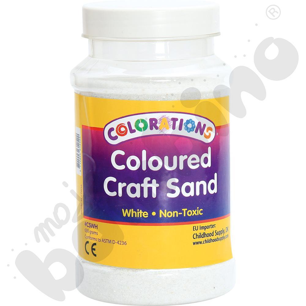 Tęczowy piasek - białyaaa