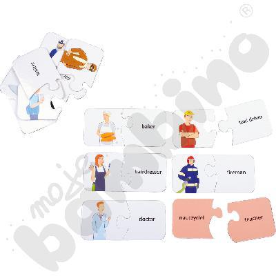 Dwustronne puzzle do j. angielskiego - zawody