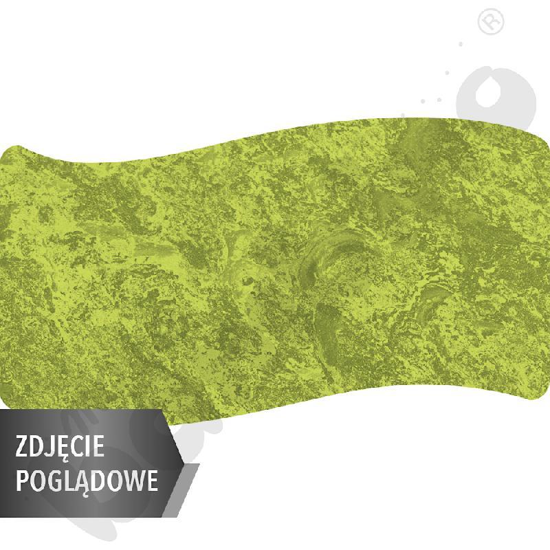 Cichy stół falisty duży, 140 x 72, rozm. 2 - zielony