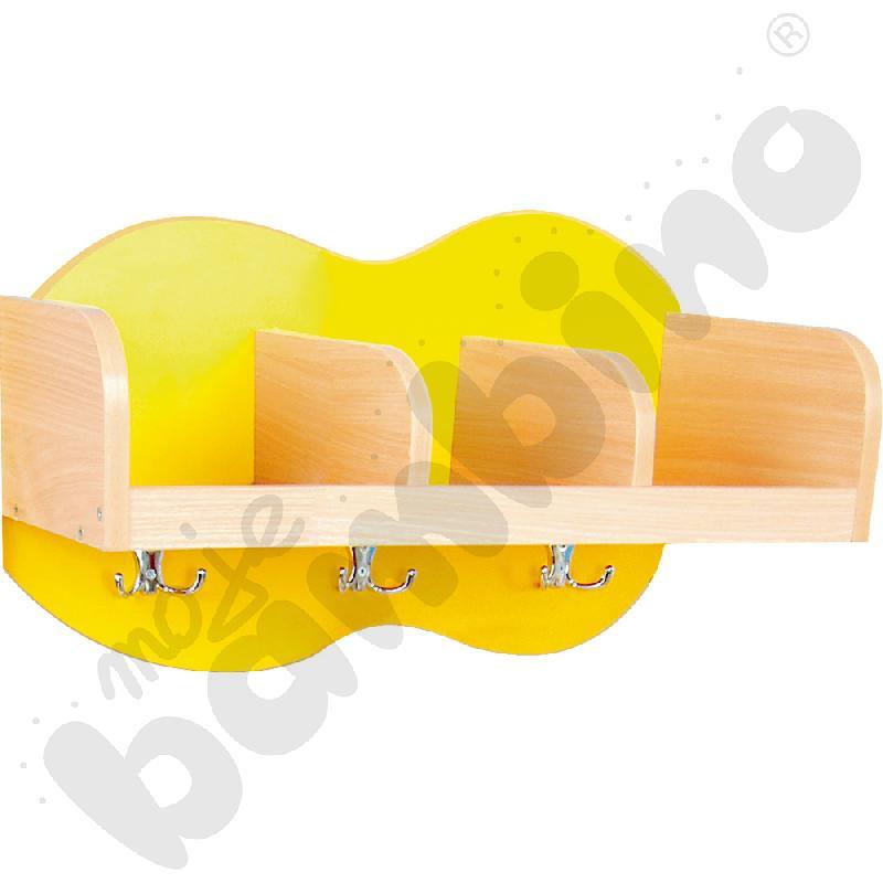 Szatnia półka Chmurka 3 - żółta