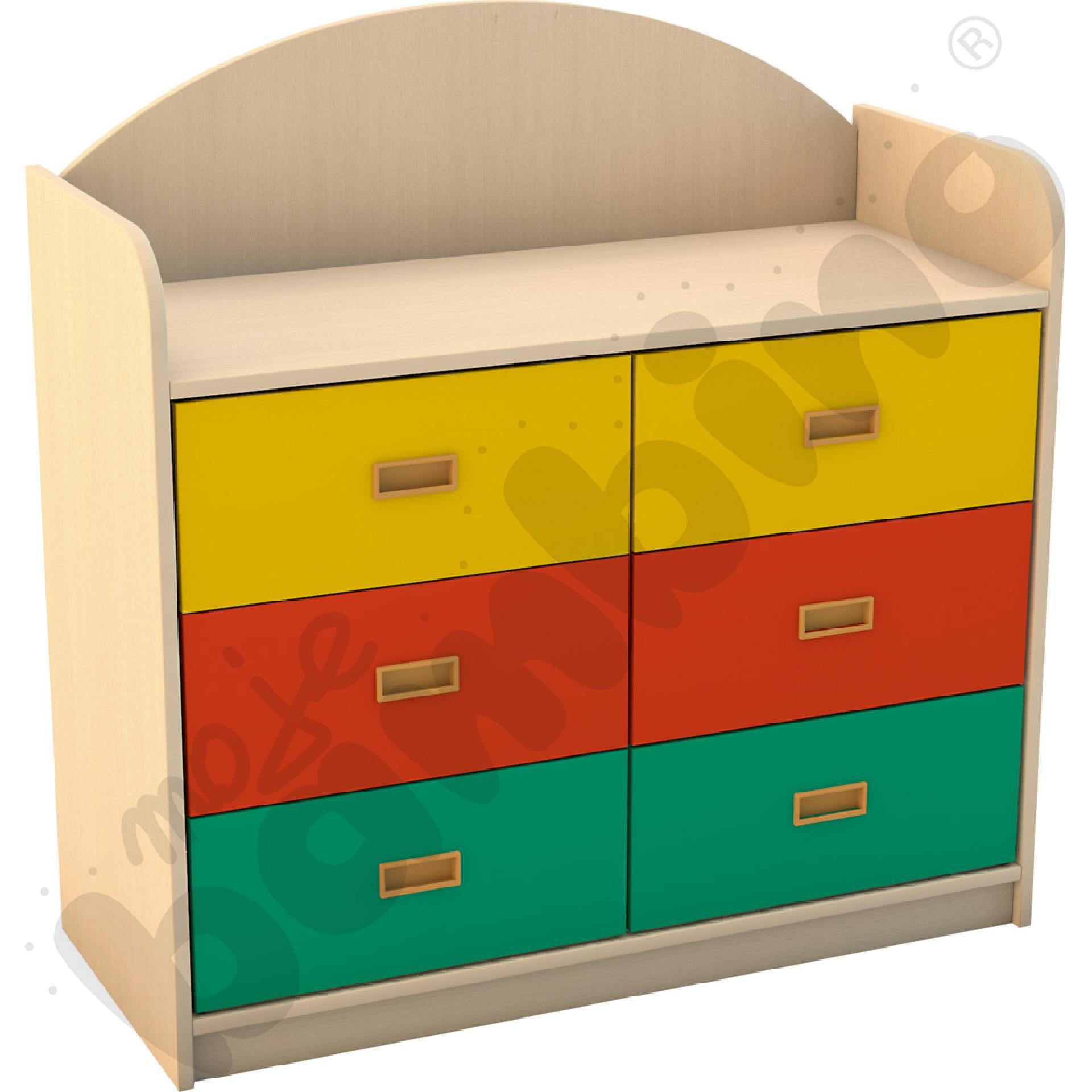 SANLANDIA komoda z 6 szufladami