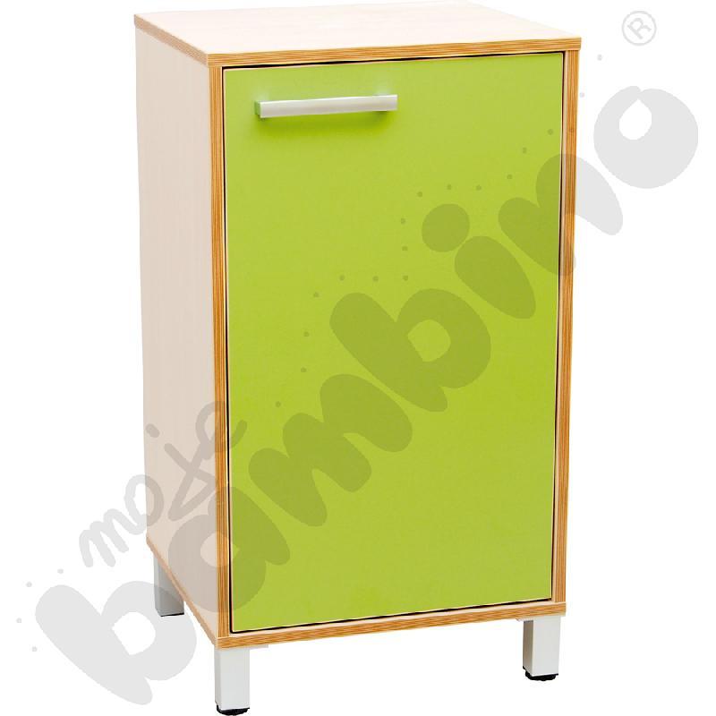 Szafka z drzwiczkami Premium solo - zielona