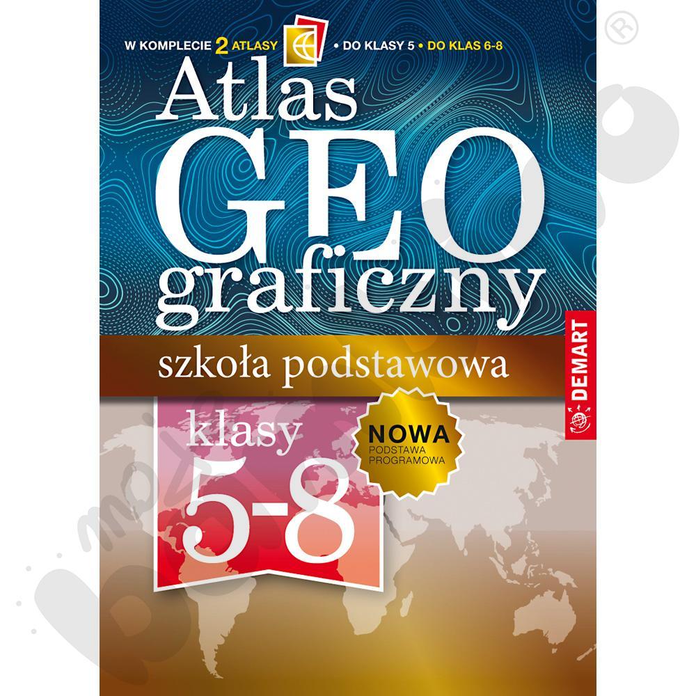 Atlasy geograficzne, kl....