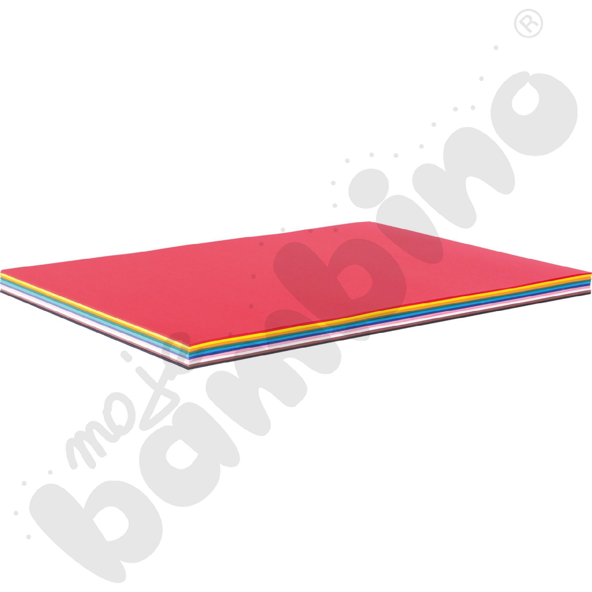 Karton fakturowy 100 arkuszy o wym. 50 x 70 cm 10 kolorów