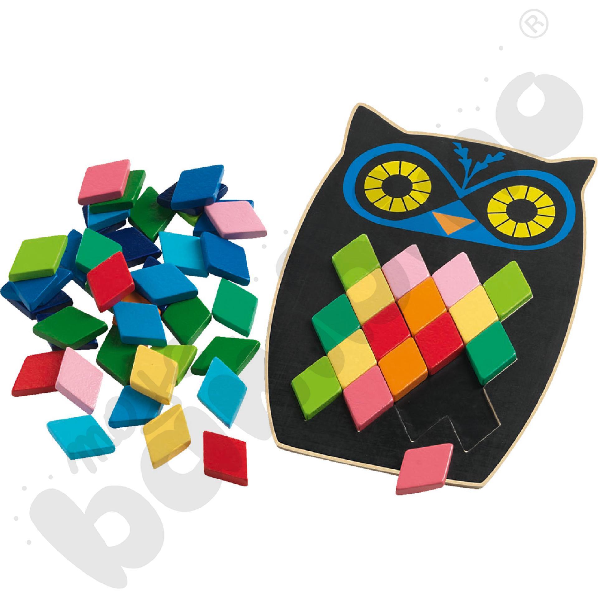 Sowa - mozaika