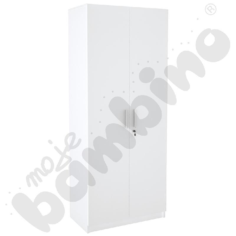 Szafa wysoka dwudrzwiowa - biała