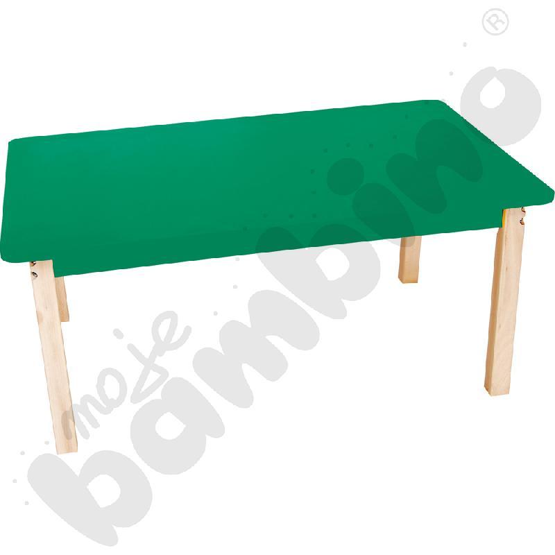 Blat prostokątny zielony