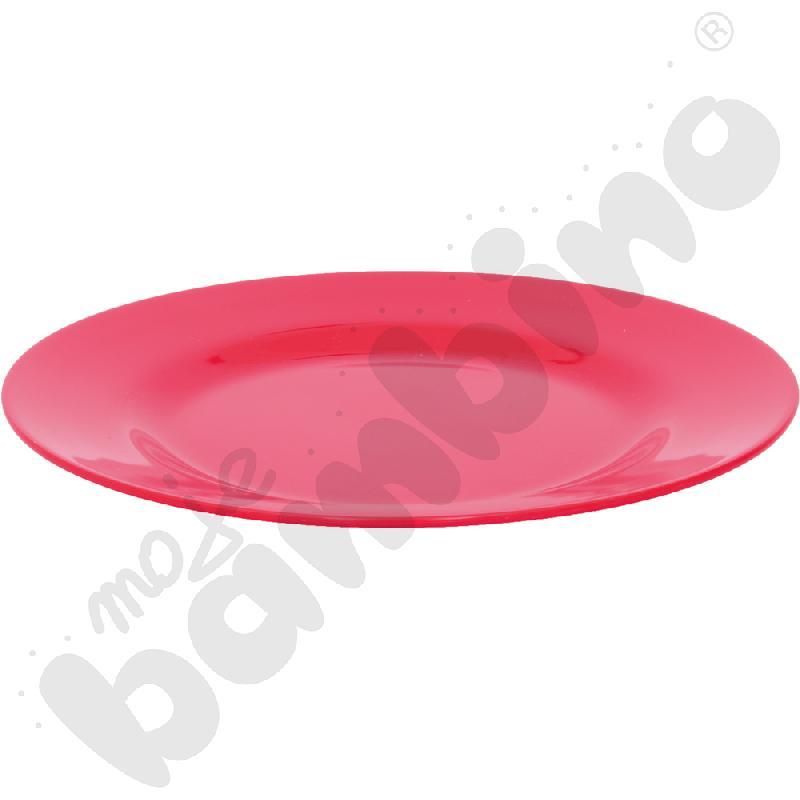 Płytki talerz 19 cm - czerwony