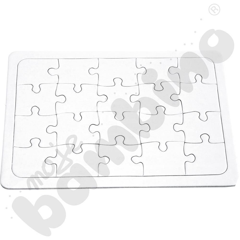 Białe puzzle A5