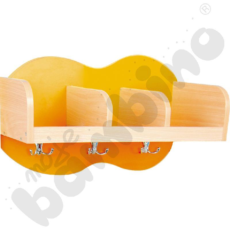 Szatnia półka Chmurka 3 - pomarańczowa