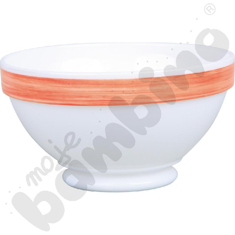 Miseczka obiadowa Brush - pomarańczowa