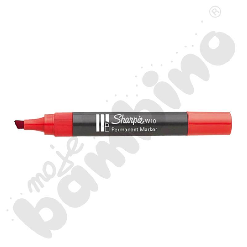 Marker permanentny ścięty czerwony