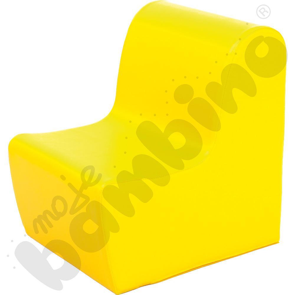 Duży fotelik żółty