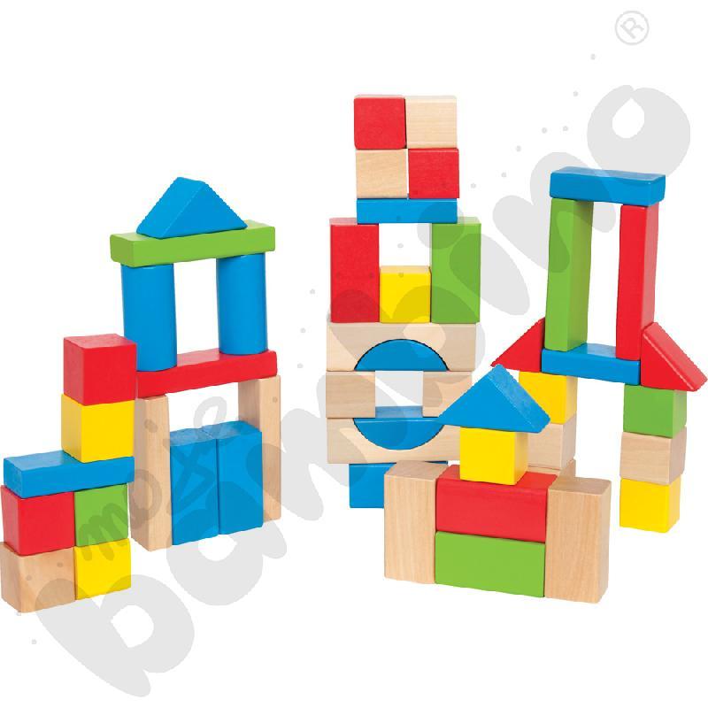 Drewniane klocki - kolorowe kształty