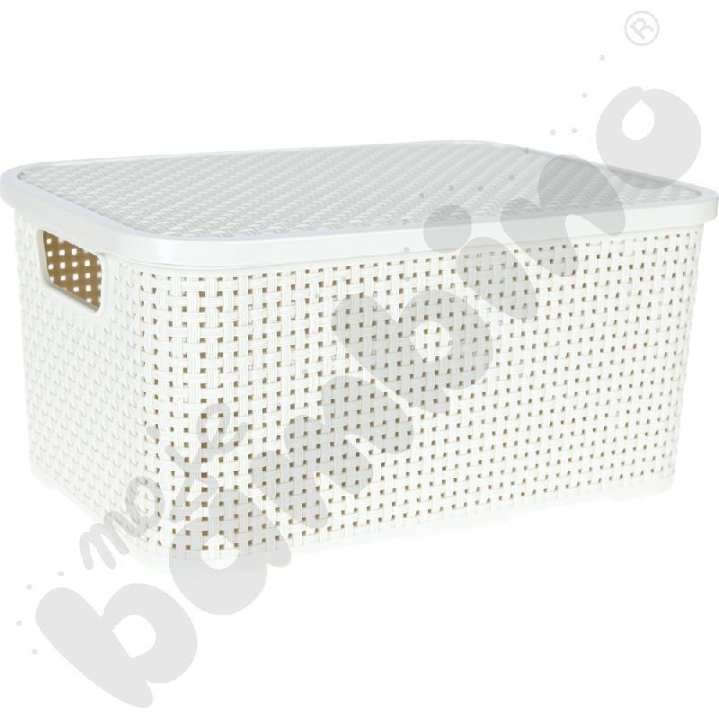 Koszyk z pokrywą 10 l - biały