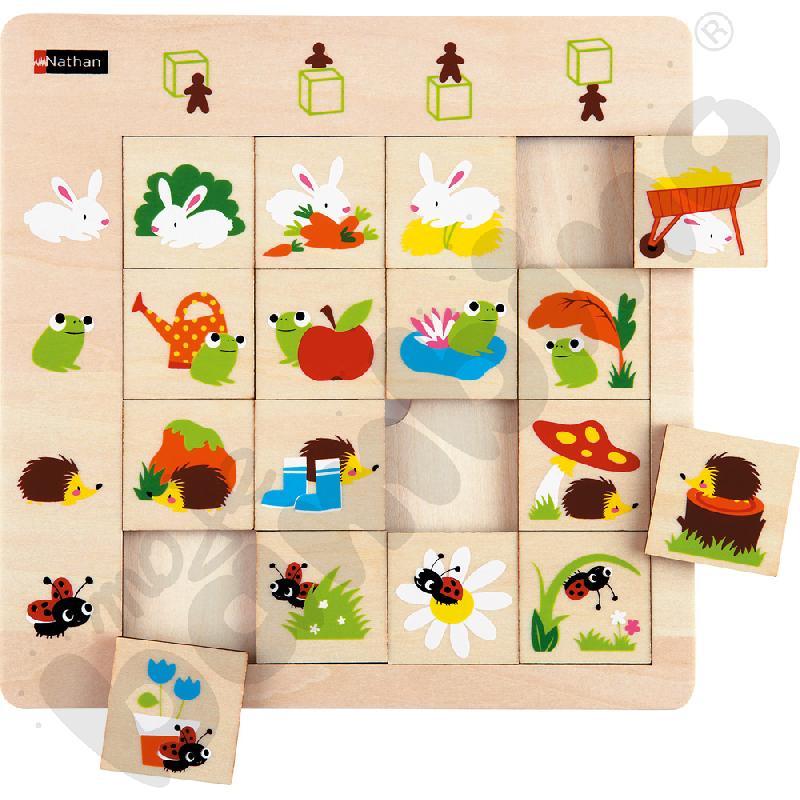 Logiczne puzzle Orientacja przestrzenna