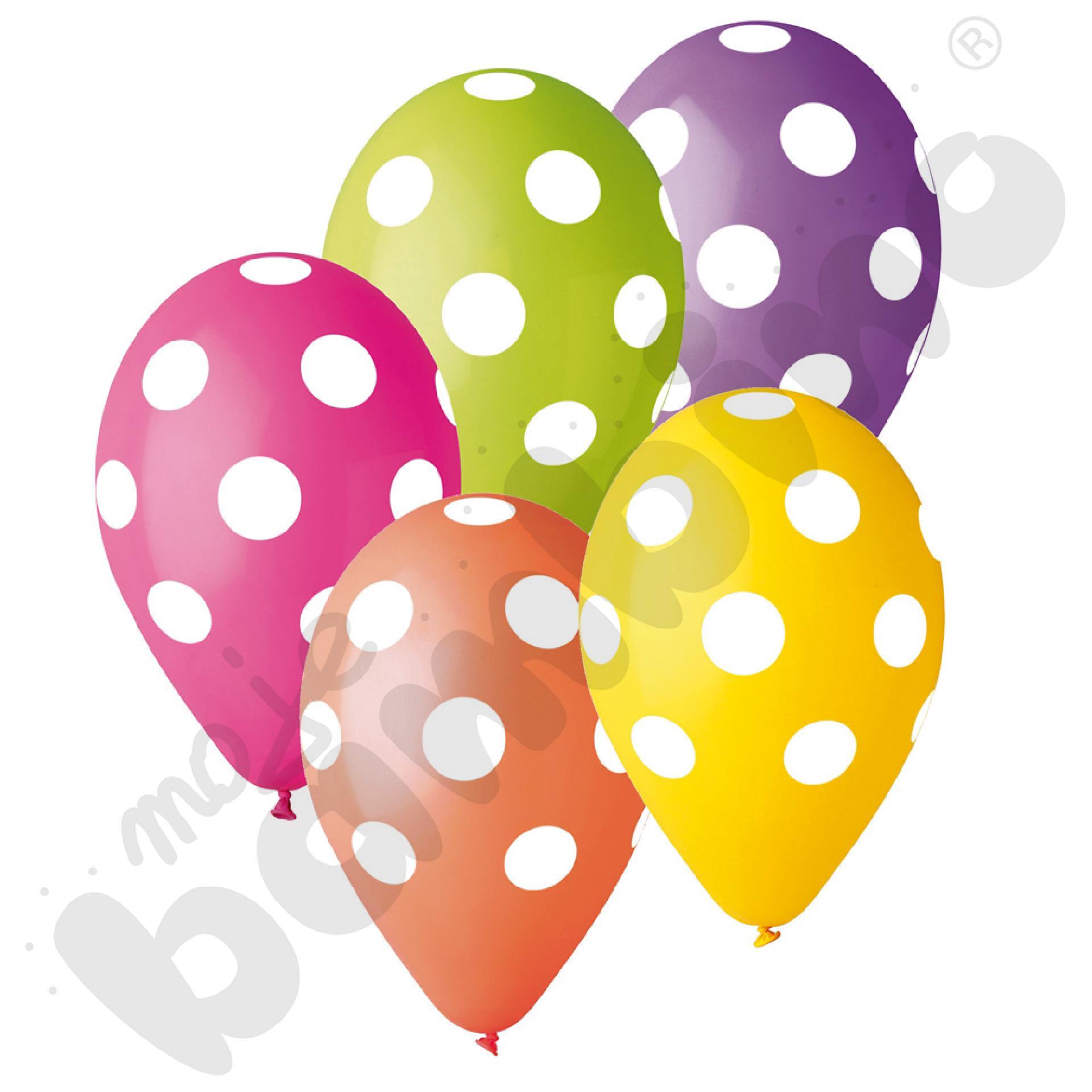 Balony w grochy