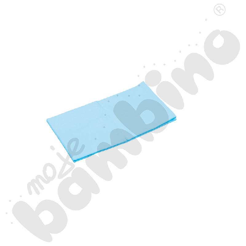 Prześcieradło z gumką (na materac) niebieskie wym. 120 x 60 cm