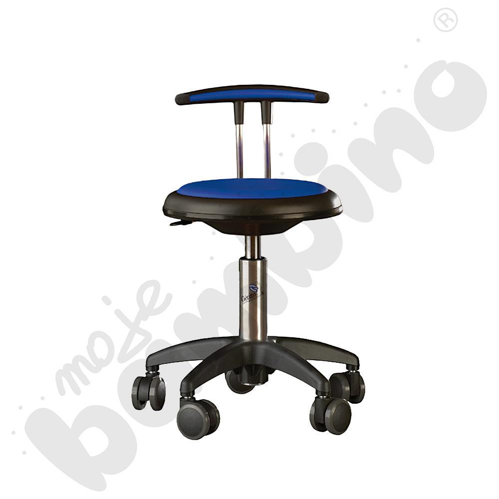 Krzesło Genito z oparciem, wys. 38-48 cm - niebieskie