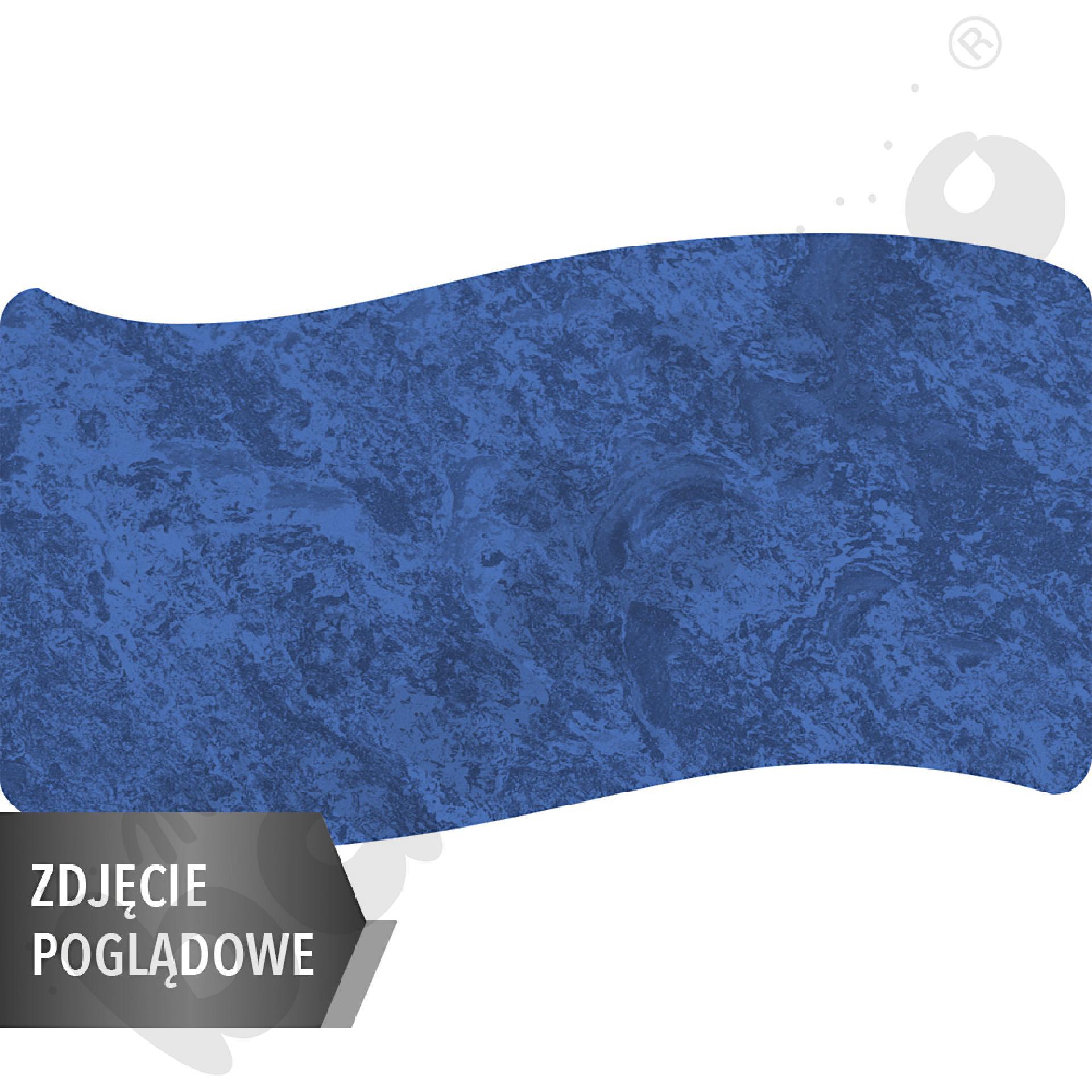 Cichy stół Plus falisty duży, 140 x 72, rozm. 4 - niebieski