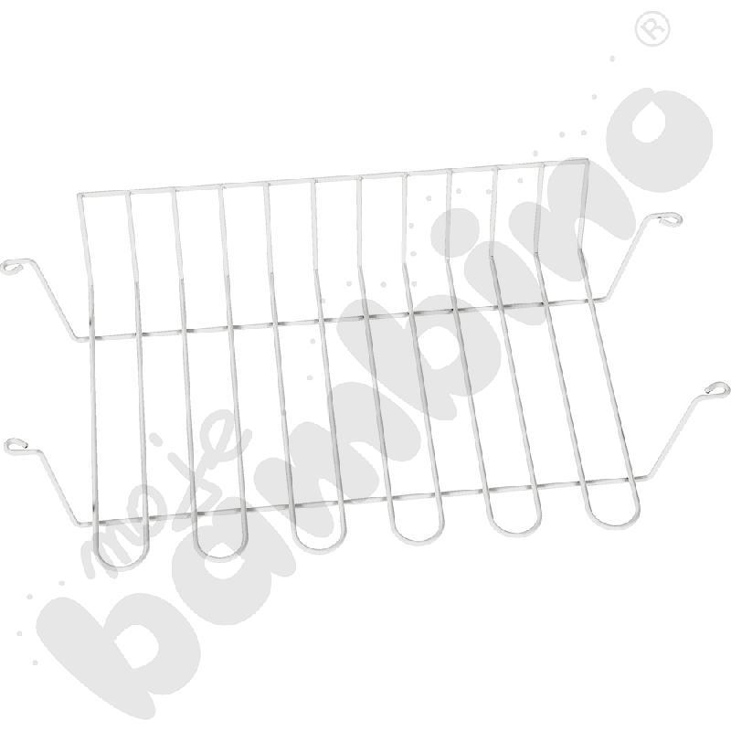 Koszyk druciany do stołów szkolnych srebrny
