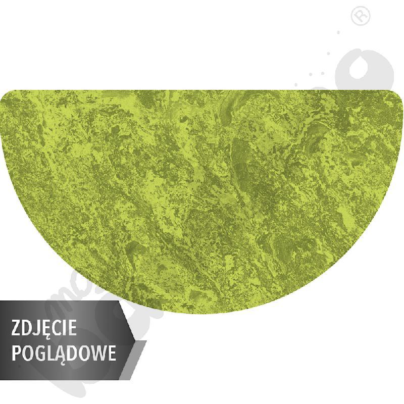 Cichy stół Plus półokrągły, 160 x 80 cm, rozm. 6 - zielony