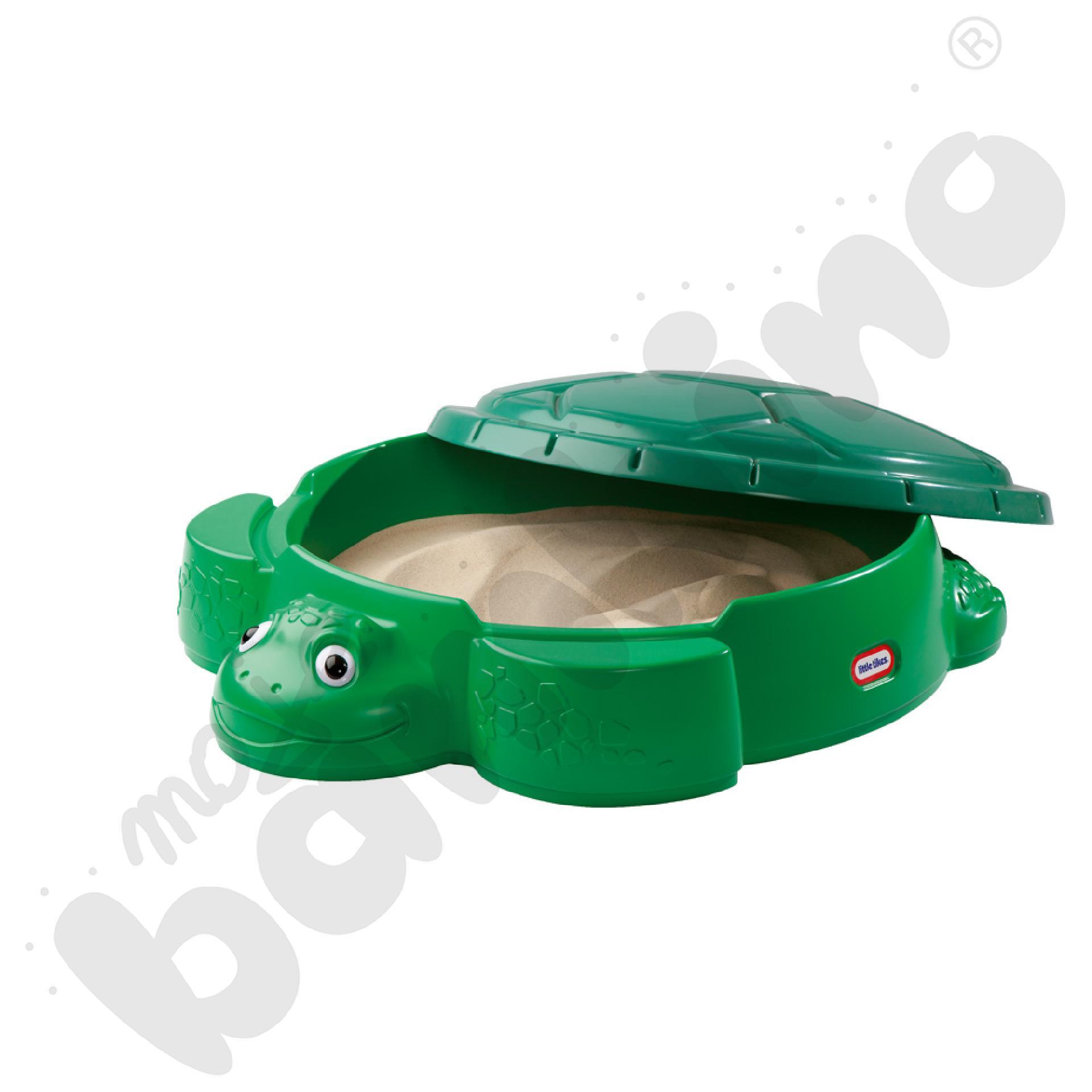 Żółwiowa piaskownica jasnozielona