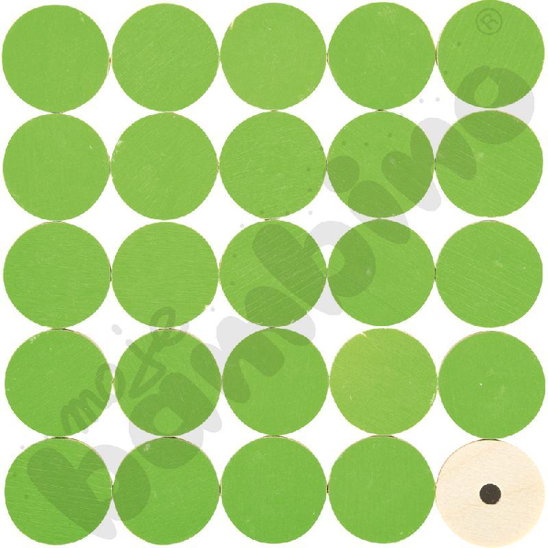 Magnetyczne krążki zielone