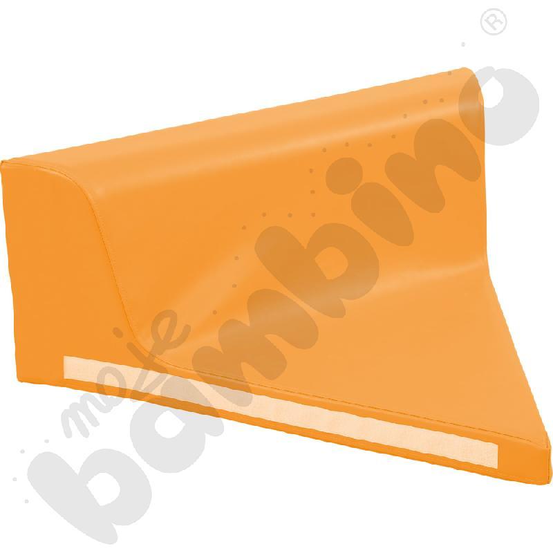 Kanapka piankowa trójkątna pomarańczowa - kształtka rehabilitacyjna
