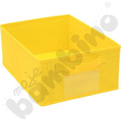 Pojemnik z tkaniny - żółty
