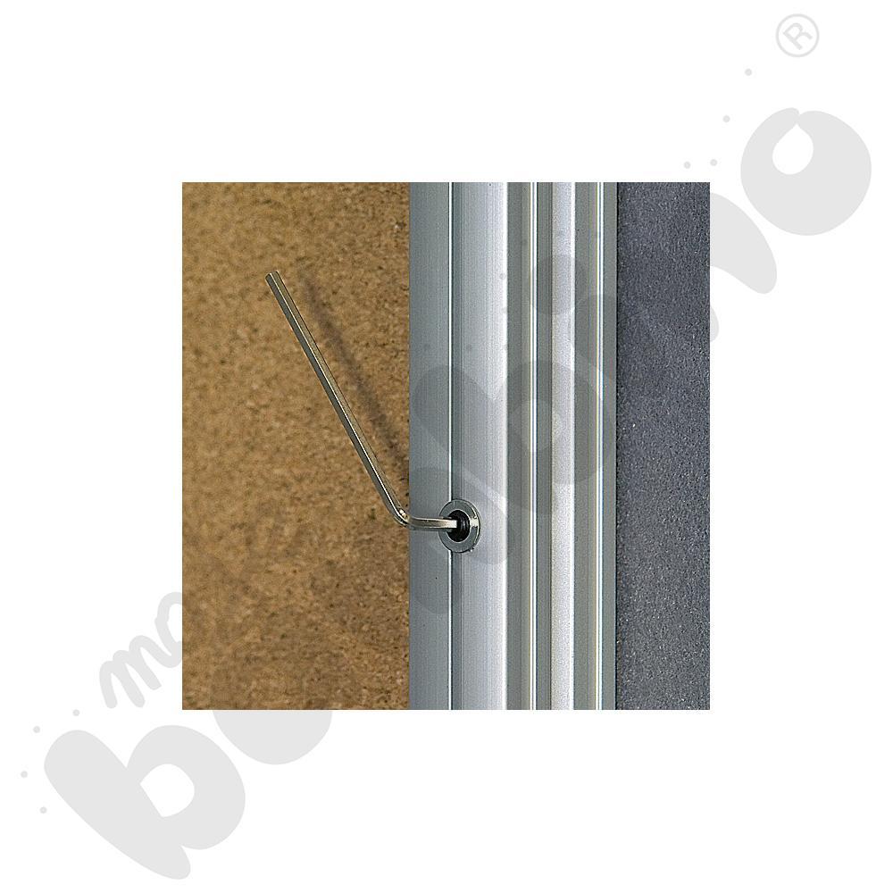 Gablota wewnętrzna otwierana na bok korkowa 60 x 90 cm
