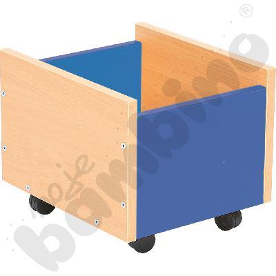 Pojemnik na kółkach - niebieski