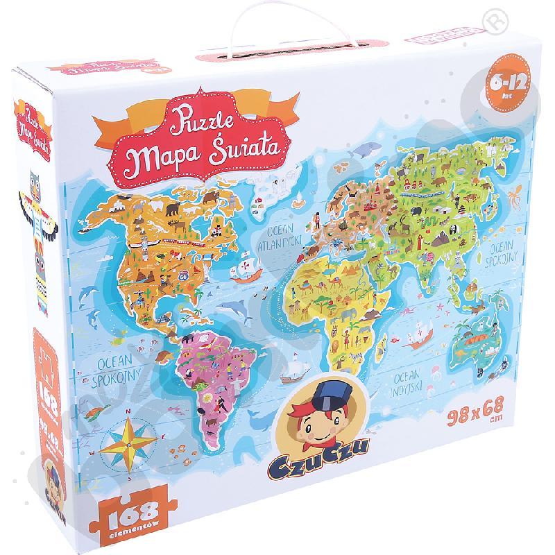 Puzzle Mapa świataaaa