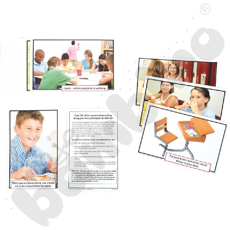 Karty do terapii dla dzieci z autyzmem i zespołem Aspergera