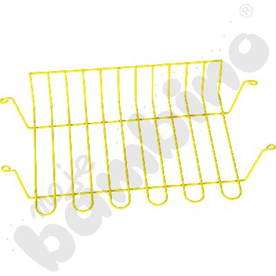 Koszyk druciany do stołów szkolnych żółty