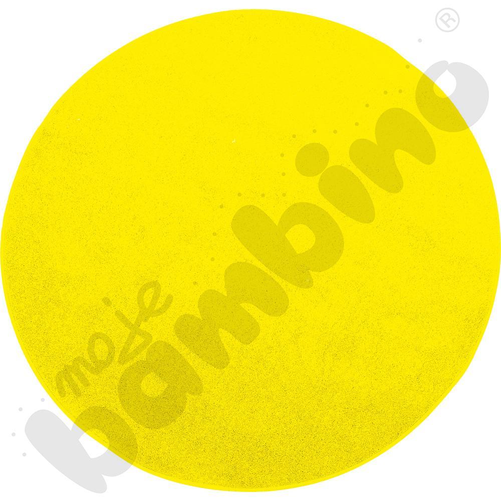 Dywan okrągły o śr. 50 cm - żółty
