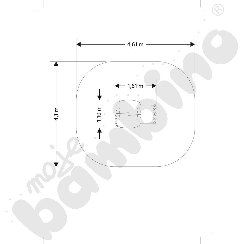 Domek z grą kółko i krzyżyk insGraf- fioletowy