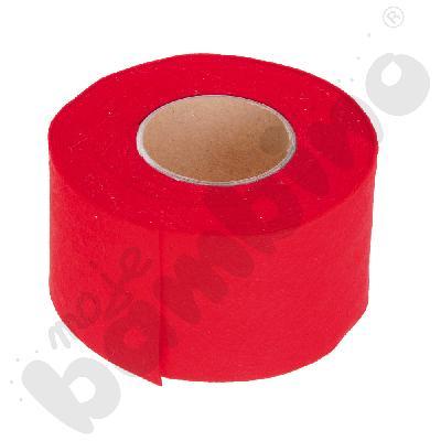 Taśma filcowa - czerwona