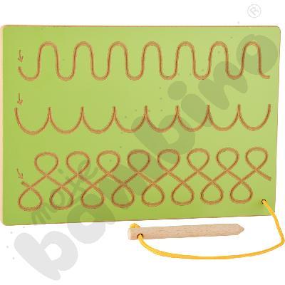 Tabliczka ze szlaczkami zielona