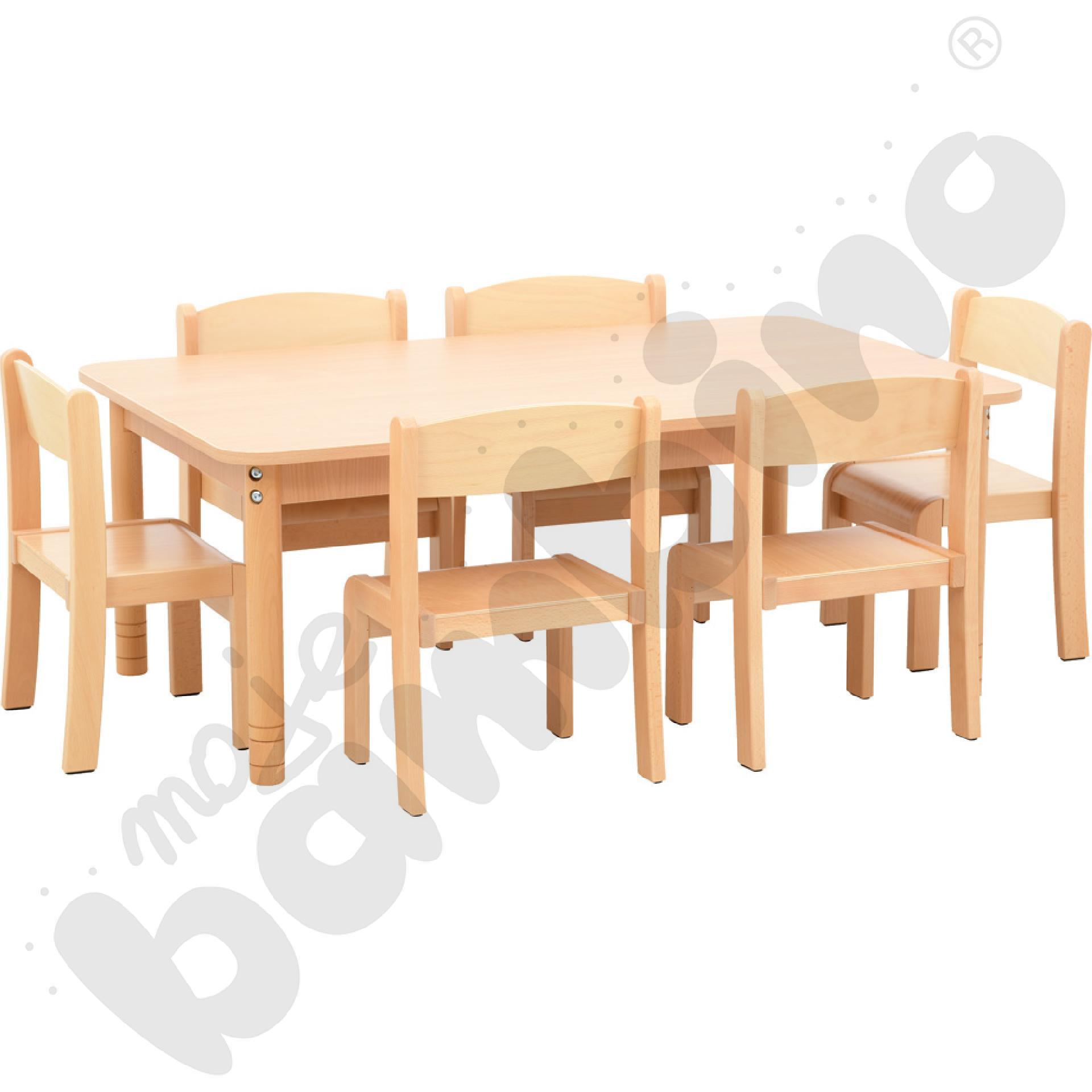 Stół prostokątny z...