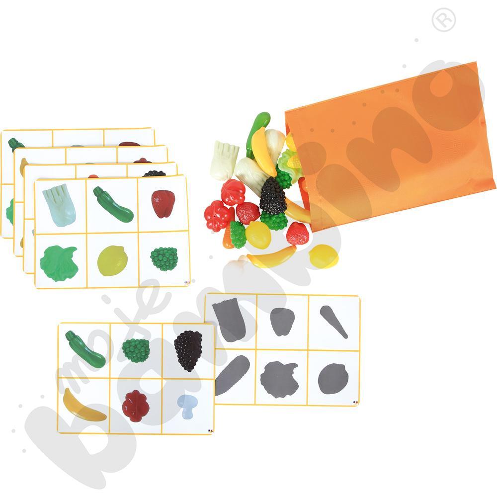 Warzywa i owoce - cienie