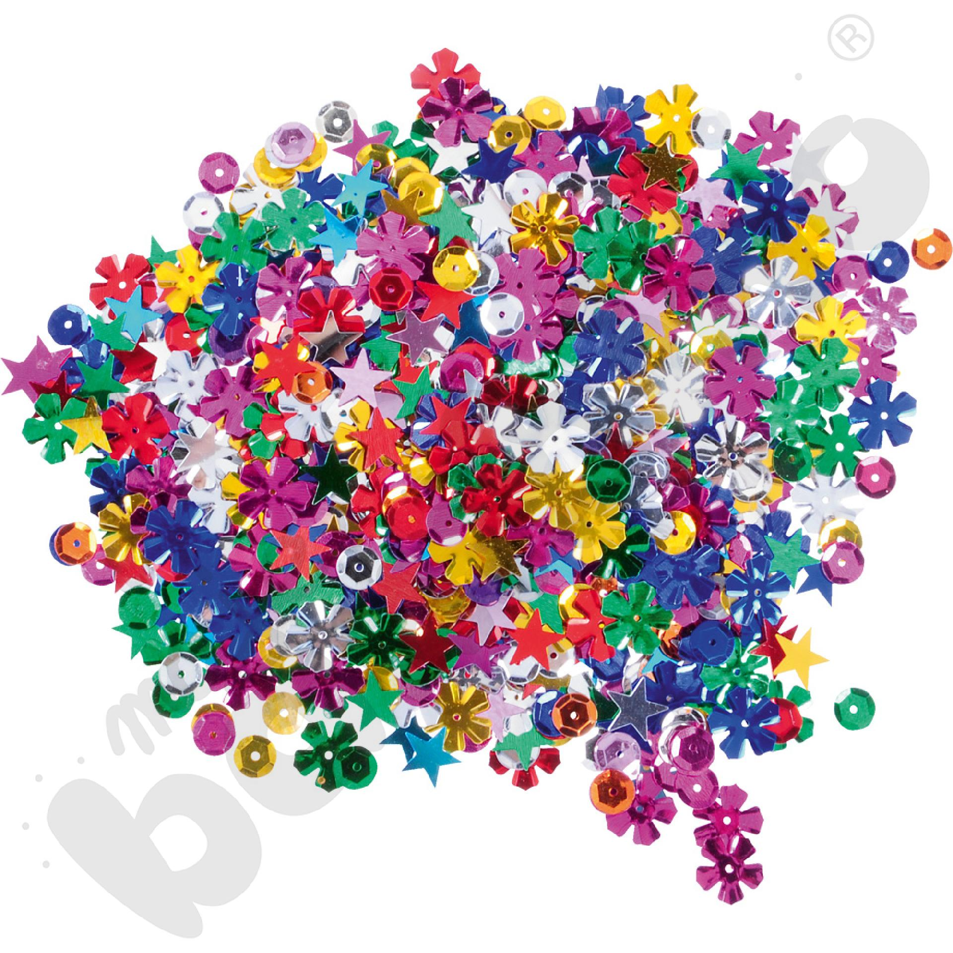 Konfetti kolorowe kształty