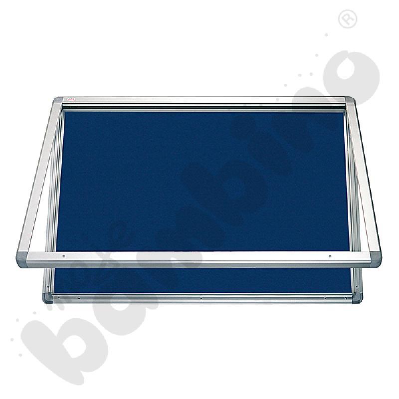 Gablota wewnętrzna otwierana do góry tekstylna 90 x 60 cm