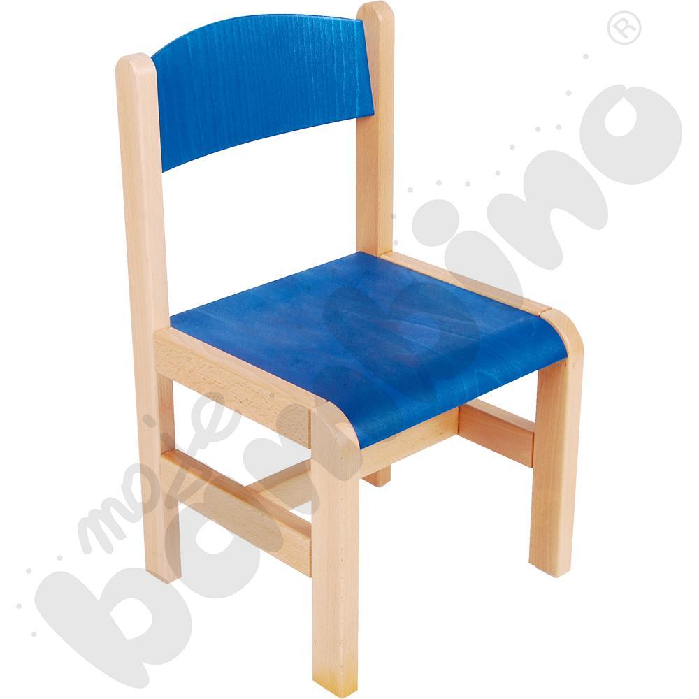Krzesło drewniane niebieskie rozm. 3