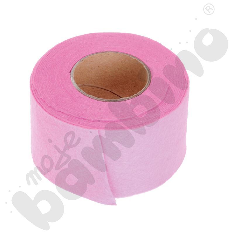 Taśma filcowa - różowa